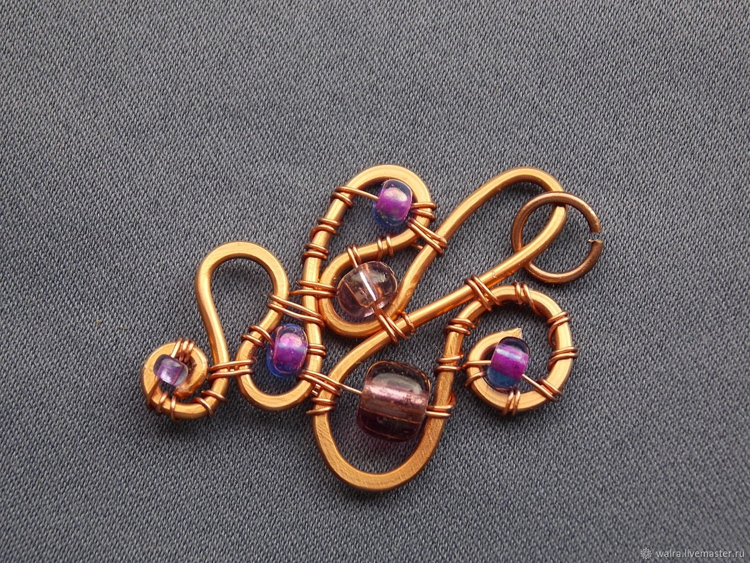 lilac stones, Pendant, Moscow,  Фото №1