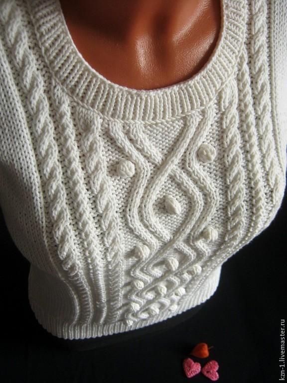 Пуловер женский с аранами с доставкой