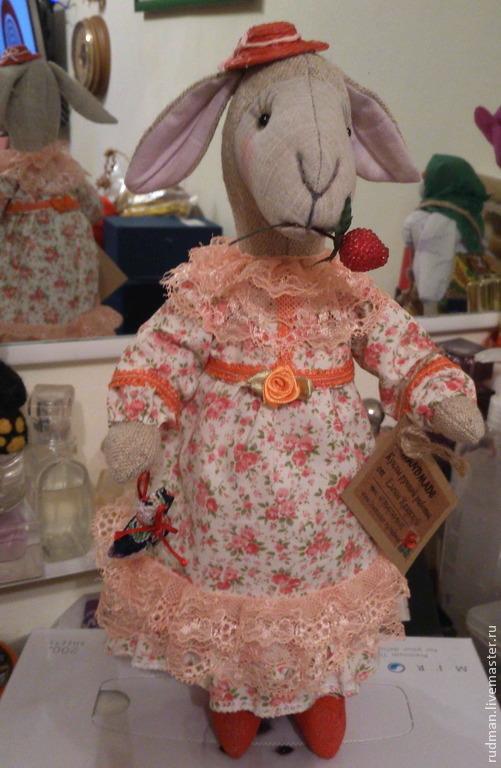 Игрушки животные, ручной работы. Ярмарка Мастеров - ручная работа. Купить Овечка 2015. Handmade. Серый, игрушка ручной работы