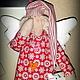 Куклы Тильды ручной работы. Рождественский сонный ангел Тильда. Tildas Haus. Интернет-магазин Ярмарка Мастеров. Сплюшка