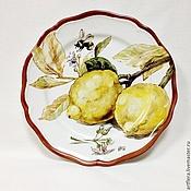 Посуда handmade. Livemaster - original item Painted porcelain. Plate porcelain