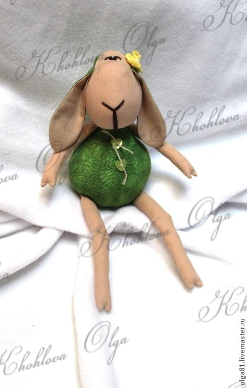 Куклы Тильды ручной работы. Ярмарка Мастеров - ручная работа. Купить Овечка. Handmade. Зеленый, Овечки, Новый Год