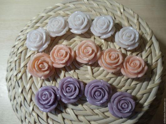 Для украшений ручной работы. Ярмарка Мастеров - ручная работа. Купить Бусины розы из прессованного коралла-25мм. Handmade. Комбинированный