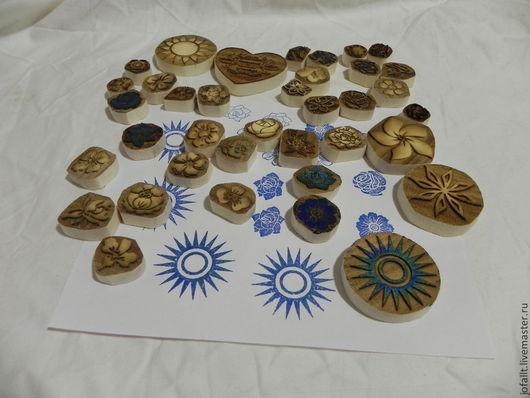 Другие виды рукоделия ручной работы. Ярмарка Мастеров - ручная работа. Купить штампы деревянные набор. Handmade. Штамп