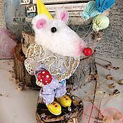 Год Крысы 2020 ручной работы. Ярмарка Мастеров - ручная работа Год Крысы 2020: Мышка клоун. Handmade.