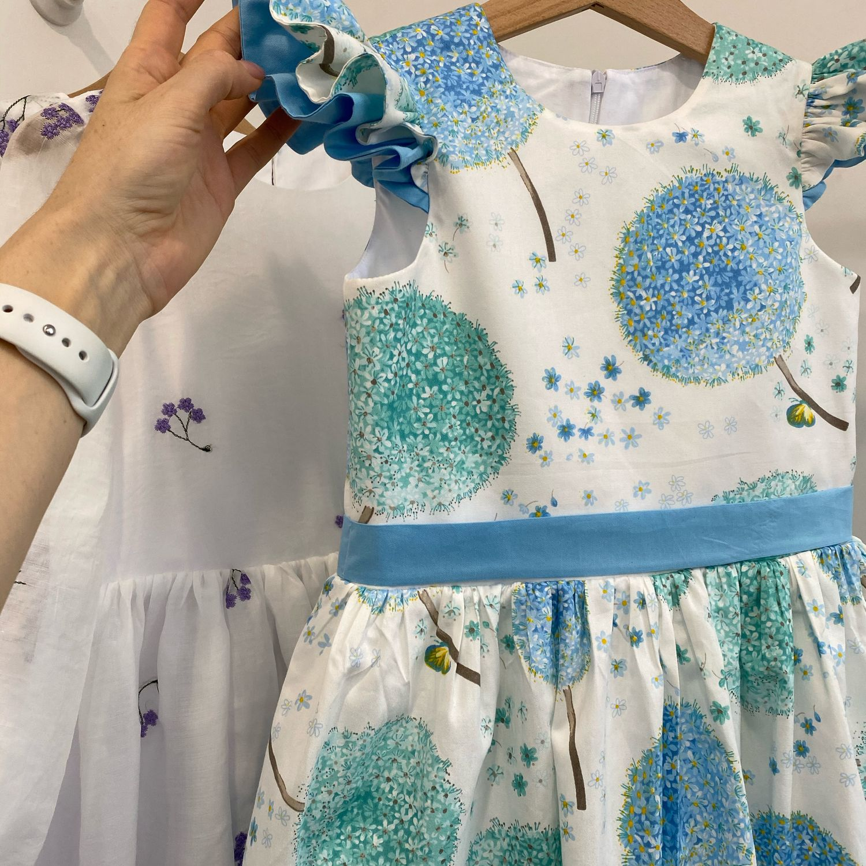 Летнее платье «Голубые одуванчики», Платья, Балашиха,  Фото №1