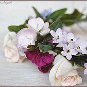 Свадебный салон ручной работы. Ярмарка Мастеров - ручная работа Венок с розами и гортензией. Handmade.