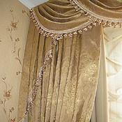 Для дома и интерьера ручной работы. Ярмарка Мастеров - ручная работа Портьеры (шторы) в комнату. Handmade.