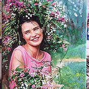 """Картины и панно ручной работы. Ярмарка Мастеров - ручная работа """"Девушка - лето"""". Handmade."""
