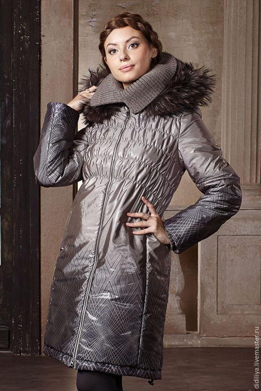 Верхняя одежда ручной работы. Ярмарка Мастеров - ручная работа. Купить Пальто Палермо. Handmade. Серый, пальто зимнее, альполюкс