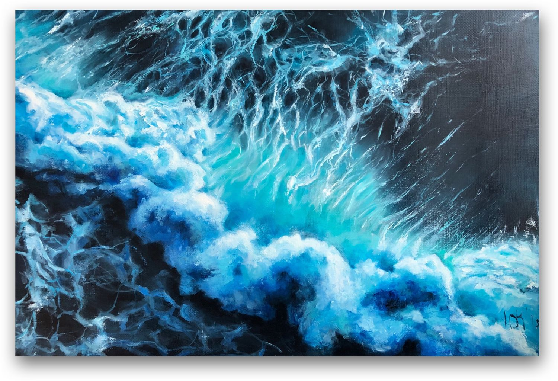 Пейзаж ручной работы. Ярмарка Мастеров - ручная работа. Купить Море. Размер 60*90. Handmade. Море, волны, мастихин