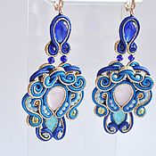 Украшения handmade. Livemaster - original item Soutache earrings Flower. Handmade.