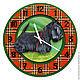 """Часы для дома ручной работы. Ярмарка Мастеров - ручная работа. Купить Часы """"Скотч"""". Handmade. Часы, скотч, шотландка"""