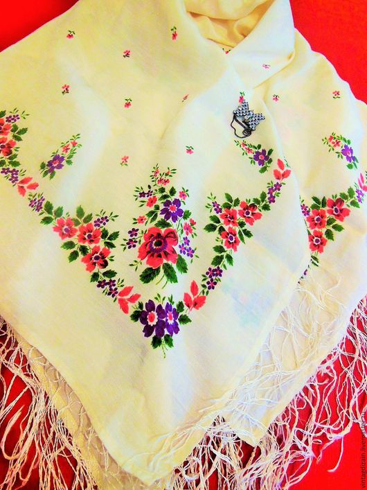 Шитье ручной работы. Ярмарка Мастеров - ручная работа. Купить ПЛАТОК шаль винтаж. Handmade. Шаль, народный стиль