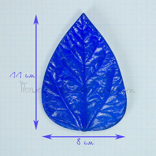 М014 Молд лист гибискуса большой