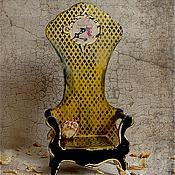 """Для дома и интерьера ручной работы. Ярмарка Мастеров - ручная работа Трон для мишки ,куклы  """"White Rabbit"""".. Handmade."""