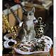 Куклы и игрушки ручной работы. Кошечка полосатая, около 4 см. Миниатюры Heidi Ott 1:12.. ArtKoza (PandoraShop). Интернет-магазин Ярмарка Мастеров.