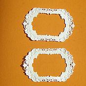 Материалы для творчества ручной работы. Ярмарка Мастеров - ручная работа Вырубки с тиснением: Рамка мини и Тэг мини. Handmade.
