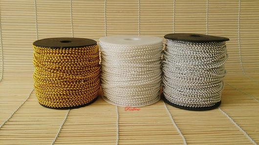 Другие виды рукоделия ручной работы. Ярмарка Мастеров - ручная работа. Купить Бусины на ните, 3 цвета.. Handmade. Бусина