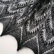 Палантины ручной работы. Ярмарка Мастеров - ручная работа Ажурный палантин из мохера Королева Сильвия. Handmade.