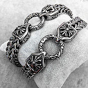 Украшения handmade. Livemaster - original item Bracelet steel with crosses unisex. Handmade.