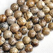 Бусины ручной работы. Ярмарка Мастеров - ручная работа Яшма пейзажная  8 10 12 мм шар - бусины камни для украшений. Handmade.