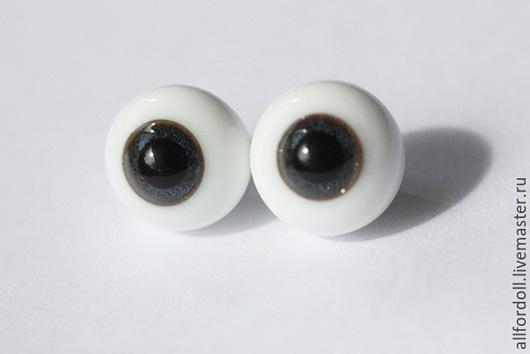 Куклы и игрушки ручной работы. Ярмарка Мастеров - ручная работа. Купить Глаза для кукол стеклянные 8 мм, 10 мм, 12 мм (сфера), темно-синие.. Handmade.