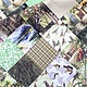 Текстиль, ковры ручной работы. Скатерть Фрагменты осени. Fi5veoclock. Интернет-магазин Ярмарка Мастеров. Трава, котята, столовая