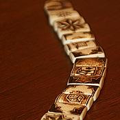 Фен-шуй и эзотерика ручной работы. Ярмарка Мастеров - ручная работа Четки перекидные из кости длинные. Handmade.