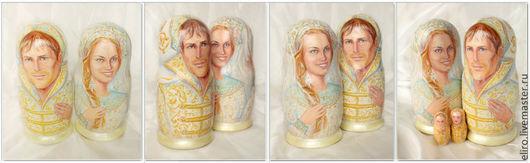 Подарки на свадьбу ручной работы. Ярмарка Мастеров - ручная работа. Купить портретная матрешка подарок на свадьбу для иностранца. Handmade.