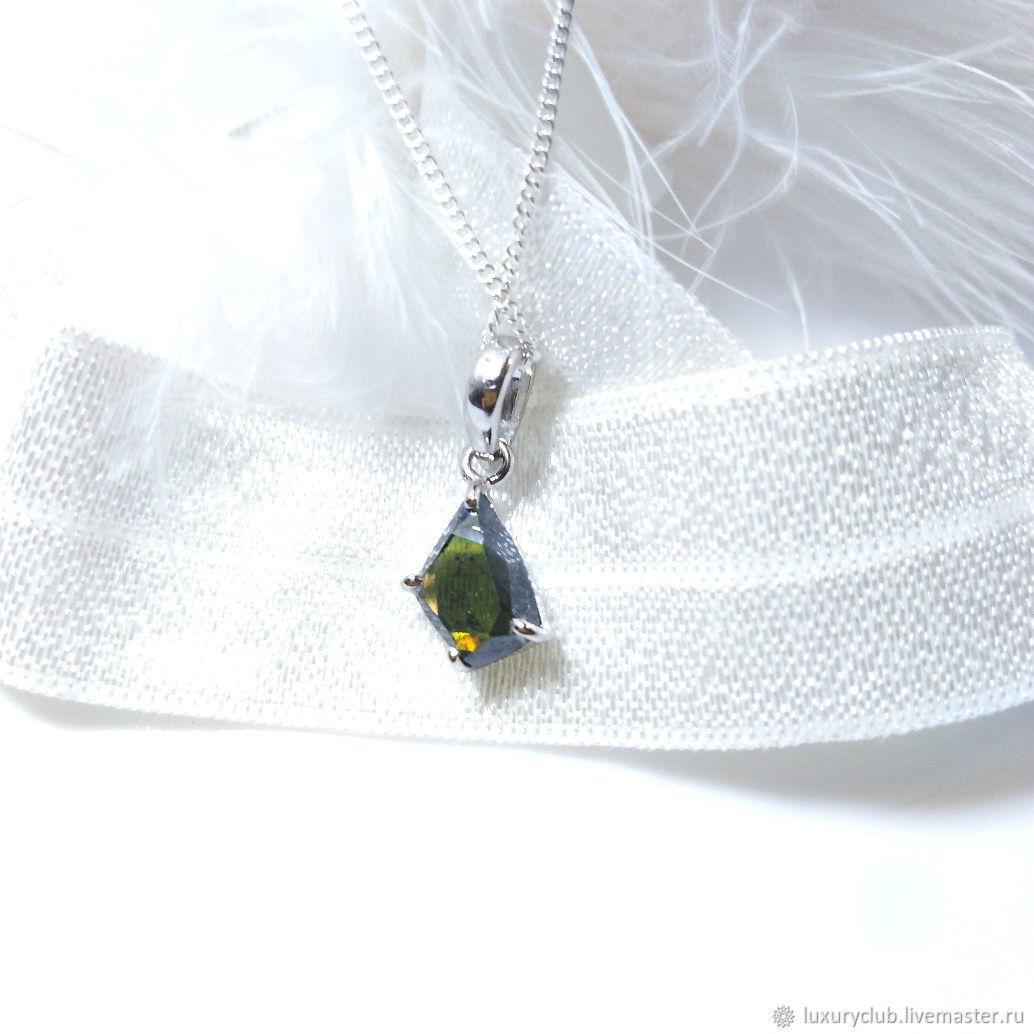 Pendant with natural diamond 'Sea calls' buy, Necklace, Tolyatti, Фото №1
