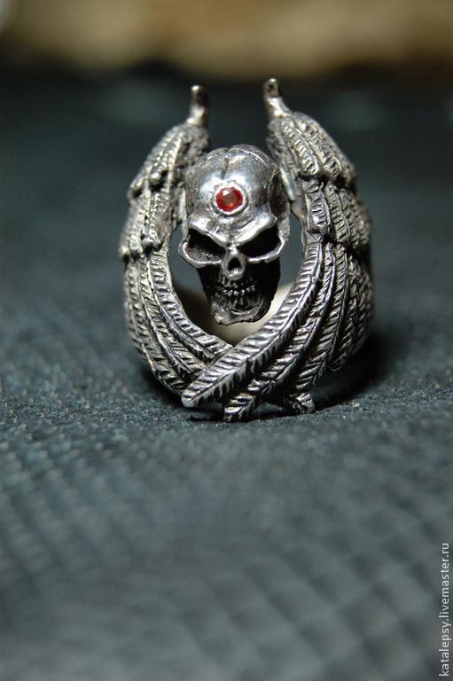 """Кольца ручной работы. Ярмарка Мастеров - ручная работа. Купить Кольцо """"Щит"""". Handmade. Серебряный, кольцо из серебра, череп"""