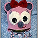 Шапки ручной работы. Шапочка Мышка-очаровашка. Мария Левочкина (MaryLoren). Интернет-магазин Ярмарка Мастеров. Шапка для девочки