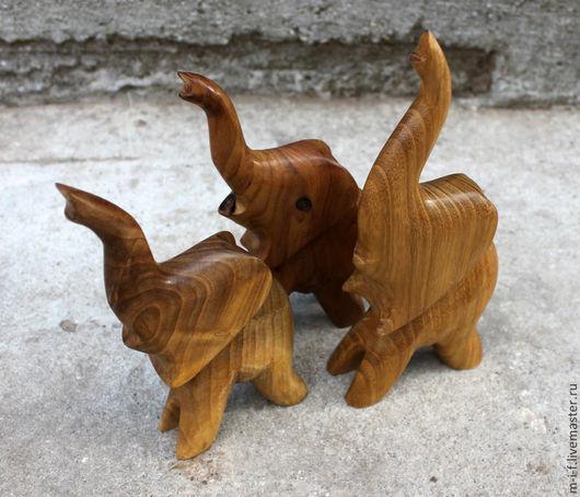 """Игрушки животные, ручной работы. Ярмарка Мастеров - ручная работа. Купить Деревянные фигурки слонов, которых мы назвали """"цирковые"""". Handmade."""