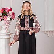 Русский стиль handmade. Livemaster - original item Dress traditional linen Pure field. Handmade.