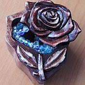 Для дома и интерьера ручной работы. Ярмарка Мастеров - ручная работа Шкатулка с розой. Handmade.