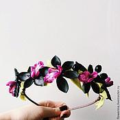 """Украшения ручной работы. Ярмарка Мастеров - ручная работа Ободок """"Черная орхидея"""". Handmade."""
