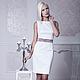 Одежда и аксессуары ручной работы. Ярмарка Мастеров - ручная работа. Купить Маленькое белое платье М-39. Handmade. Белый