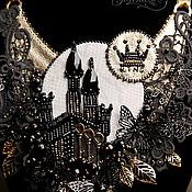 """Украшения ручной работы. Ярмарка Мастеров - ручная работа Колье """"Черный Замок"""" из коллекции """"Шахматные Легенды"""". Handmade."""