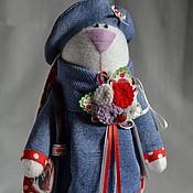 """Куклы и игрушки ручной работы. Ярмарка Мастеров - ручная работа Зайка """"Сине-красная"""". Handmade."""