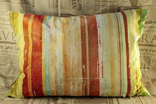 Текстиль, ковры ручной работы. Ярмарка Мастеров - ручная работа. Купить Бархатная подушка Радуга жизни. Handmade. Бархатная подушка