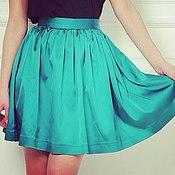 Одежда ручной работы. Ярмарка Мастеров - ручная работа Бирюзовая короткая пышная юбка. Handmade.