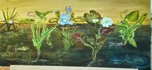 """Натюрморт ручной работы. Ярмарка Мастеров - ручная работа. Купить роспись мебели """"ботаник"""", панно/ картины на дереве. Handmade."""