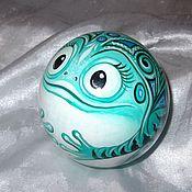Сувениры и подарки handmade. Livemaster - original item Frog Musical ball tumbler Ball. Handmade.