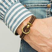 Браслет из бусин ручной работы. Ярмарка Мастеров - ручная работа Браслет кожаный мужской. Handmade.