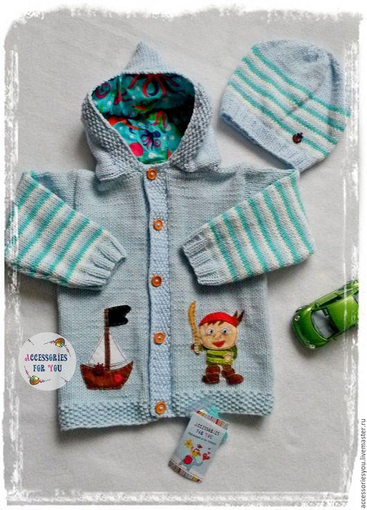 """Одежда для мальчиков, ручной работы. Ярмарка Мастеров - ручная работа. Купить Комплект """"Boy"""". Handmade. Жакет, кофта для мальчика, хлопок"""