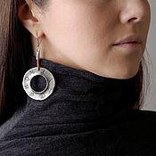 Украшения handmade. Livemaster - original item Halo earrings round. Handmade.