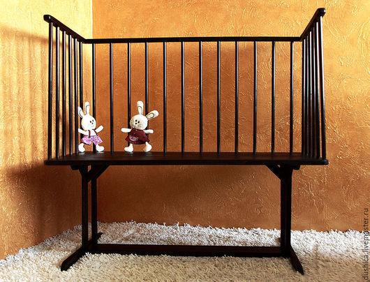 Детская приставная деревянная кроватка
