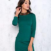 Одежда handmade. Livemaster - original item Sheath dress emerald. Handmade.
