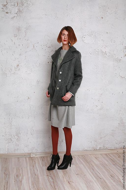 Верхняя одежда ручной работы. Ярмарка Мастеров - ручная работа. Купить жакет-пальто. Handmade. Однотонный, пальто, верхняя одежда
